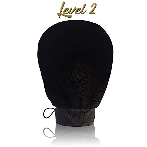 Gant Exfoliant Kessa Level 2 Peau Mixte-Nouméro-L'Original Noir,gommage corps et visage-Exfoliation naturel-Nettoie et purifie en profondeur-Hammam et Spa-Marque Française