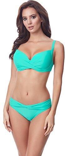Bra-cup Bikini (Merry Style Damen Bikini Set P654-25TSG(Türkis, Cup 75 F/Unterteil 38))