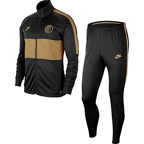 Nike Inter M Nk Dry Strk TRK Suit K, Tuta Uomo, Nero/Nero/Oro/Oro (Truly Gold/Truly Gold), 2XL