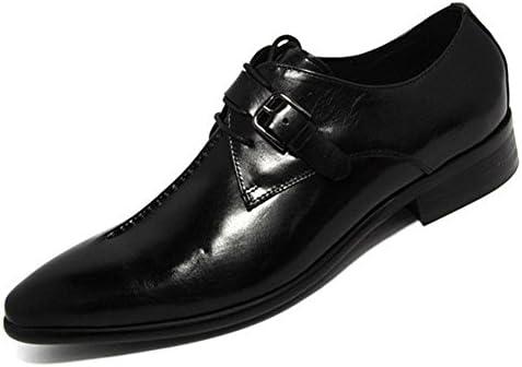 Hombres Cuero Zapatos Con cordones Primavera Trabajo Real marrón Puntiagudo Negocio Boda británico Estilo Tobillo...