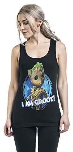 Guardiani della Galassia 2 - I Am Groot Top donna nero Nero