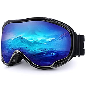 Juli Skibrille,Winter Schnee Sport Snowboard Schutzbrille mit Anti-Nebel UV-Schutz Doppel Linse für Männer Damen&Jugend