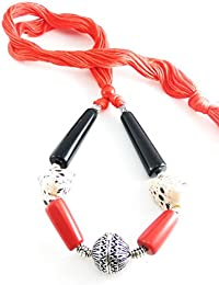 Oxidised German Silver/fashion/Antique/new Design Jewellery Multicolored Necklace Set For Women And Girls - B078FGL6LM