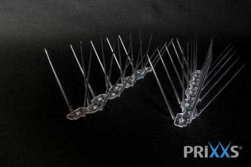 Prixxs Taubenabwehr: Taubenspikes 4 reihig aus Kunststoff (1m)