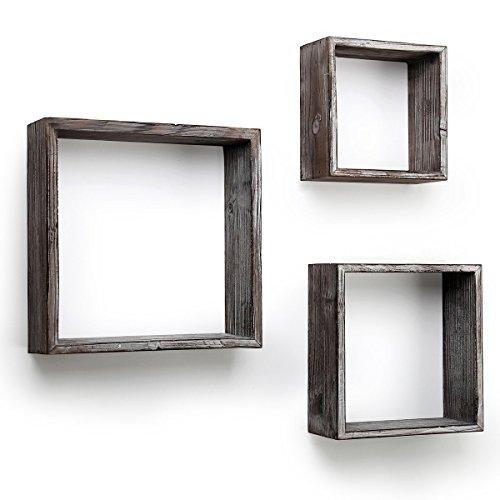 BESTOOL - Estantes flotantes para pared, diseño rústico con caja abierta para...