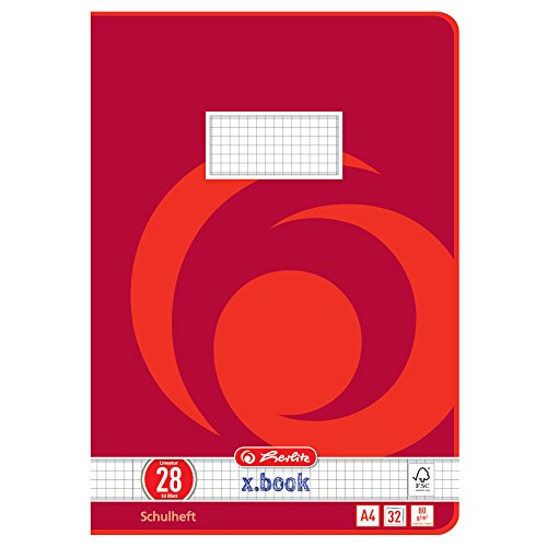 Herlitz 340281 Heft A4, 32 Blatt, Lineatur 28, FSC Mix, 5 Stück (2. Klasse Liniertes Papier)