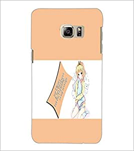 PrintDhaba Doll With Quote D-1125 Back Case Cover for SAMSUNG GALAXY NOTE 5 EDGE (Multi-Coloured)
