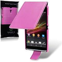 Sony 5053102512396–Tasche Leder Ledertasche für Xperia SP (M35h) Pink
