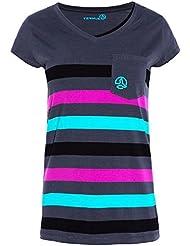Camiseta IRETHEL, Mujer, Gris / rayas (S)