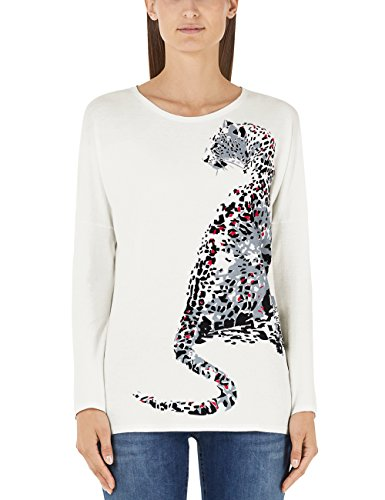 Marc Cain Sports, T-Shirt Donna Mehrfarbig (Off-White 110)