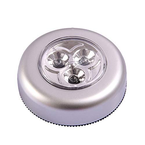 Festnight Wiederaufladbare LED-Tasten-Nachtlichter Touch-Activated Lichter 3 stück Mini runde Lichter Tippen Nachtlampe Starker magnetischer Stock Flur Küche Schlafzimmer Badezimmer Schränke -