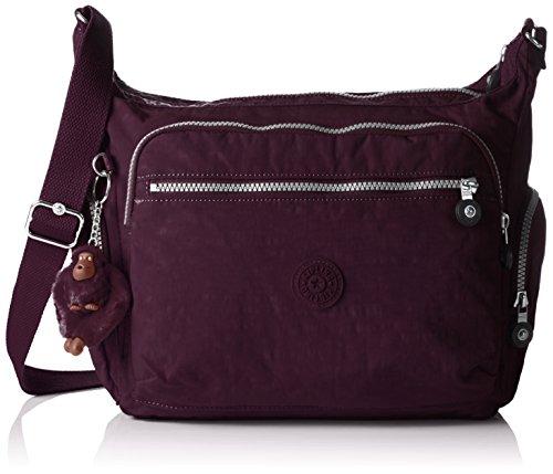 Kipling Gabbie, Sacs Bandoulière Femme, Violet (REF34Z Plum Purple), 35.5x30x18.5 cm