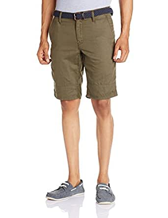 Celio Men's Linen Shorts Olive (3596653137349)