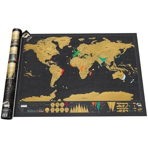 Gearmax® Scratch Map Deluxe Edition Mappa: Mappa