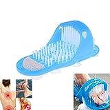 Spazzola del Piede massaggiatore Scarpa da Bagno Idea - Bagno Shower Feet Foot esfoliante Ciabatta Clean Scrubber Spa Massager Wash Pantofola