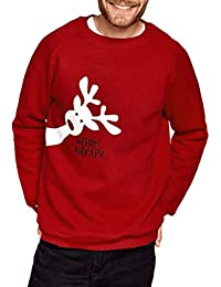 Zolimx Weihnachten Pullover Mommy Daddy&Me Christmas Matching T-Shirt Herren Frauen Lange Ärmel Deer Print Sweatshirts Sweater Tops Bluse