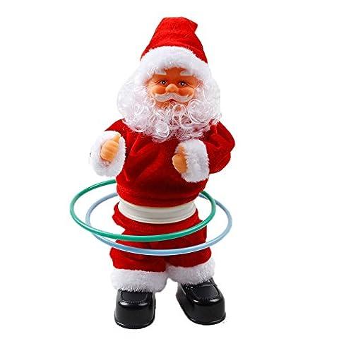 akaufeng Père Noël Jouet Hula Hoop Père Noël Décoration de fenêtre
