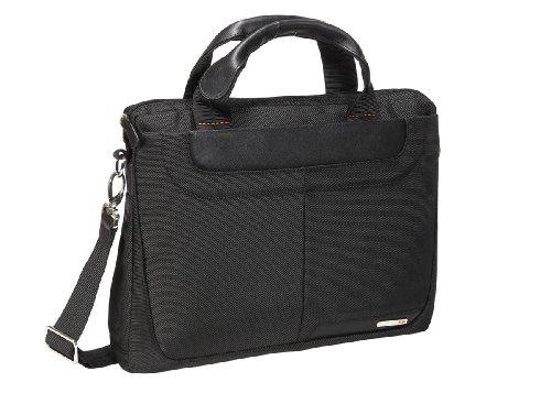 Nava Easy Briefcase Slim, Borsa con Manico, Unisex-adulto Nero