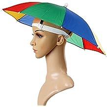 Sungpunet - Gorro de paraguas con diadema ajustable, para sol y lluvia, gorra visera