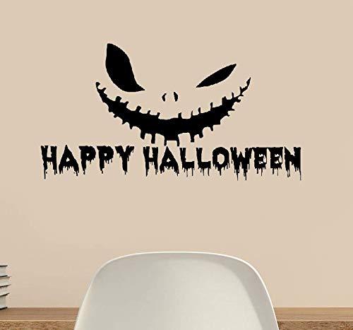 Wandaufkleber Kinderzimmer Glückliches Halloween-Festival-Kürbis-Lächeln-Ausgangsdekor-Fenster