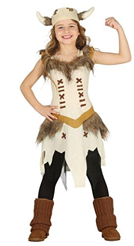 KINDERKOSTÜM - WIKINGER GIRL - Größe 125-135 cm ( 7-9 Jahre (Wikinger Baby Kostüme)