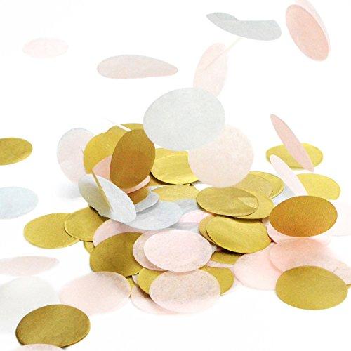 fetti Mix | Konfetti aus Seidenpapier in 3cm (Party, Hochzeit, Deko, Hochzeitsdeko, Konfeti in Pastell) Wunderschönes XXL-Konfetti (Wales) ()
