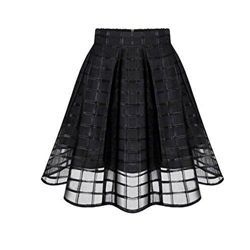 Damen Tutu Unterkleid Röcke , Hohe Taille Petticoat Kleid 50er Rockabilly | Festliches Damenkleid | Blickdicht Fluffiger Ballettrock | Unterröcke Minirock Tüllröcke | Stitching Rock (XL, Schwarz) (Bouffant Unterrock)