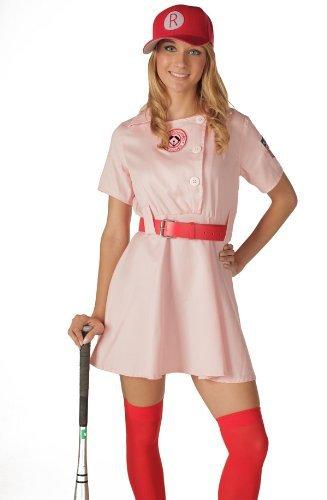 n Rockford Peaches AAGPBL Baseball Damen Kostüm Dress (L/XL DELUXE) (Rockford Peaches)