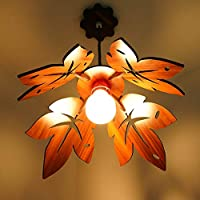 1) [MADE IN INDIA] SHOCK PROOF AND ECO FRIENDLY Wooden Hanging Lamp Comes With 1 Canopy,1 Holder,2 Screw,4 grip, 1 bulb,40watt ( Golden Yellow Light ) & Cotton Wire Which Can Be Adjusted Up & Down Accordingly Your Choice. 2) By US DZIRE From ...