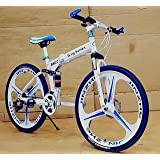 R CYCLES Foldable Adventure Sports MTB Cycle with 21 Derailleurs in Black , 3S