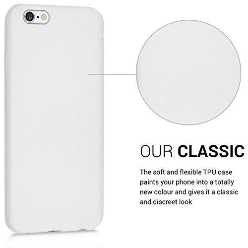 kwmobile Hülle für Apple iPhone 6 / 6S - TPU Silikon Backcover Case Handy Schutzhülle - Cover Rot matt .Hellgrau matt