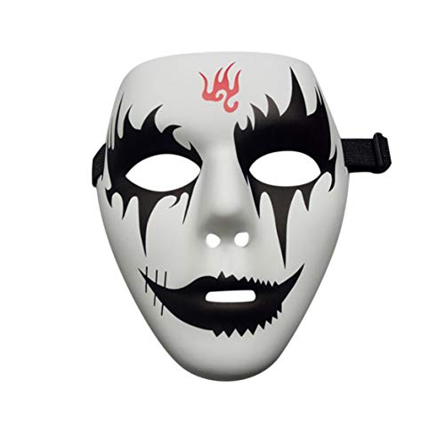 Delicacydex Face Mask PVC Street Dance Mask Eco-Friendly Hand-Painted Hip-Hop Mask Graffiti Mask Dance Mask Masquerade Accessories