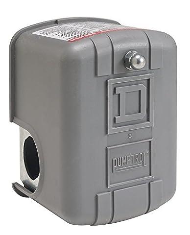 Square D by Schneider Electric 9013FYG2J24M4 Air-Pump Pressure Switch, NEMA 1, 40-60 psi Pressure Setting, 20-65 psi Cut-Out, 15-30 psi Adjustable Differential, Low-Pressure