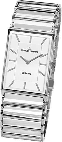 JACQUES LEMANS Reloj Analógico para Mujer de Cuarzo con Correa en Acero Inoxidable 1-1858B