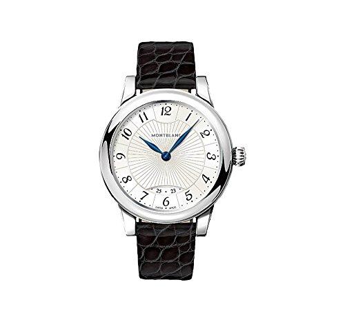 Montblanc Boheme argento quadrante nero in pelle orologio da donna