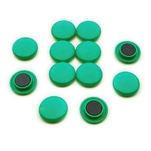 First4magnets F4M30-GREEN Paquet de 12 Aimants de panneau d'affichage/planification Taille Medium ⌀ 30 x 8 mm Vert
