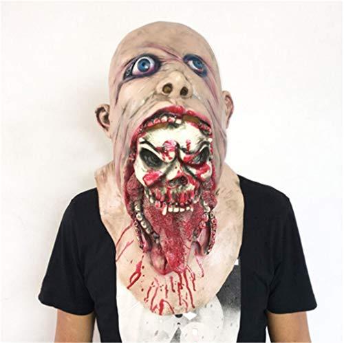 Monster Schädel Maske - MRY LUCKY Walking Dead Vollkopf Latex