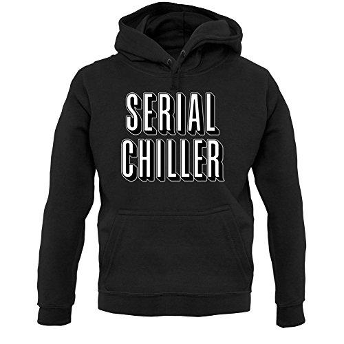 Serial Chiller - Unisex Hoodie/Kapuzenpullover - Schwarz - S (Netflix Und Chill Halloween Kostüm)