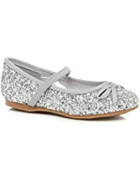 1d5dc1d7eb2 bluezoo Kids Girls  Silver Glitter Pumps