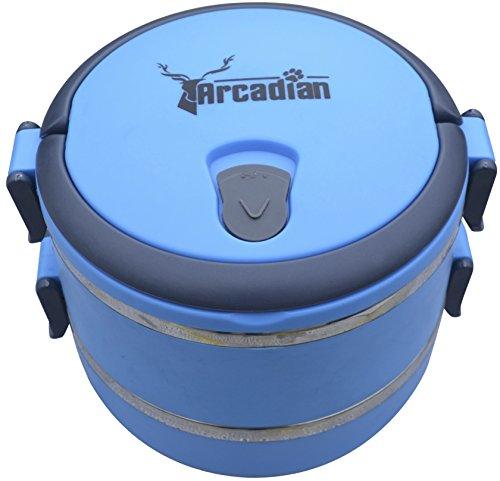 Arcadian - Juego de cuencos para comida y agua de viaje, diseño...