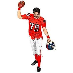 WIDMANN 03154 - Disfraz de zombi americano para adultos, para hombre, rojo/blanco, XL