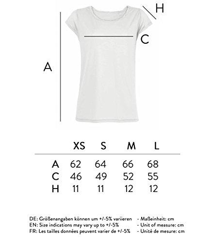 Leichtes Bio Baumwolle Oversize Shirt wake up and make up Damen tshirt mit Spruch Ladies tanktop Oberteil toller Ausschnitt Weiß