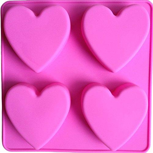 LYNCH 4 piezas corazón Silicona Tipo de Jabón