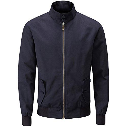 Charles Wilson Originals Premium Harringtonjacke für Herren (Medium, Einfarbiges Marineblau)