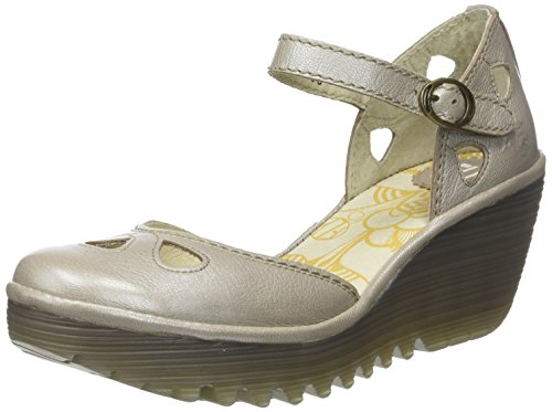 Fly London Yuna, Zapatos tacón Punta Cerrada Mujer
