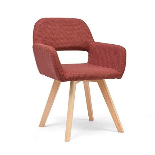 ZBHW Modernes Wohnzimmer Esszimmer Accent Arm Chairs Club Guest mit Massivholzbeinen (Color : A) -