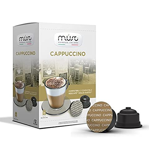 48 alternative Kapseln CAPPUCCINO Kaffee Kapseln Dolce Gusto® kompatibel.