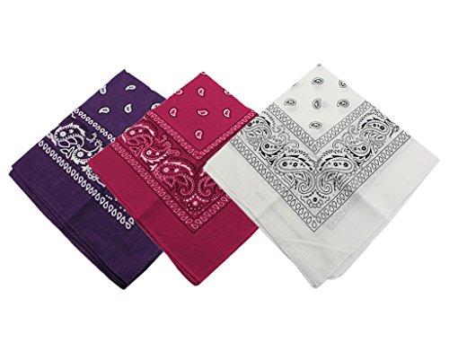 Preisvergleich Produktbild Bonamart 3 PCS Paisley Bandana Biker Kopftuch Halstuch Haarband Herren Damen