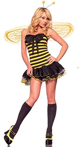 4 Stück Sexy Biene Qualität Kostüm Kleid Boppers Flügel und String Größe 36-38