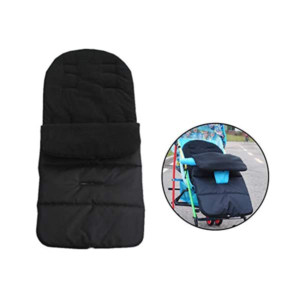 DENGHENG Multi-Function Baby Stroller Sleeping Bag Children Kids Trolley Thickened Swaddl DENGHENG ❤ Baby carriage sleeping bag, Multi-functional universal stroller sleeping bag. ❤ Made of high quality oxford and fleece, it is warm, windproof and waterproof. ❤ Removable, easy to clean, adjustable, adjust the position according to your baby's length. 3